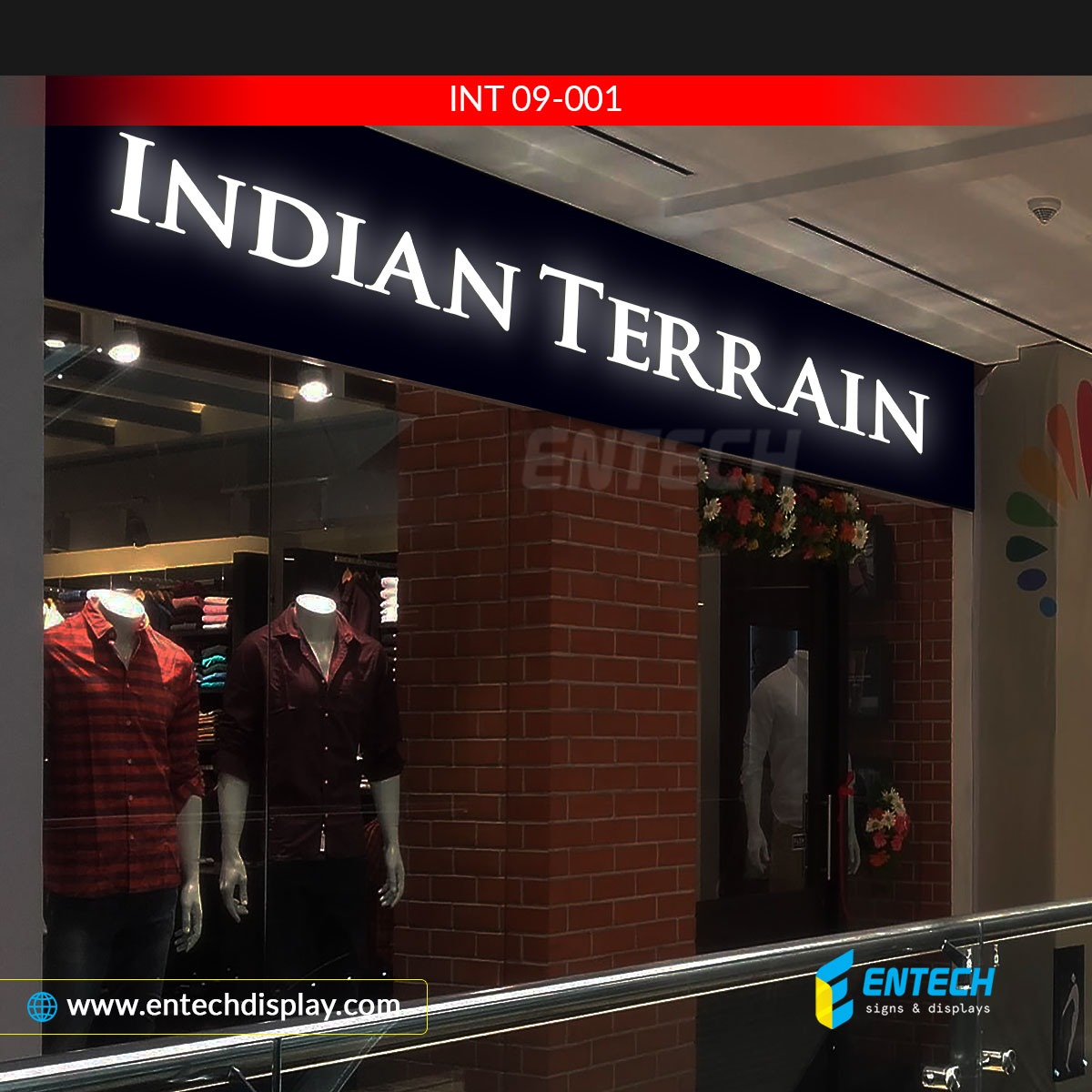 Indian Terraine LED acrylic sign store front display - store fron LED signage manufacturer, India