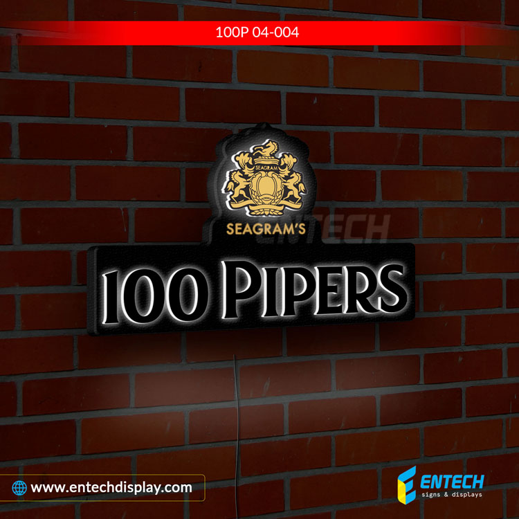 100 pipers Light Box