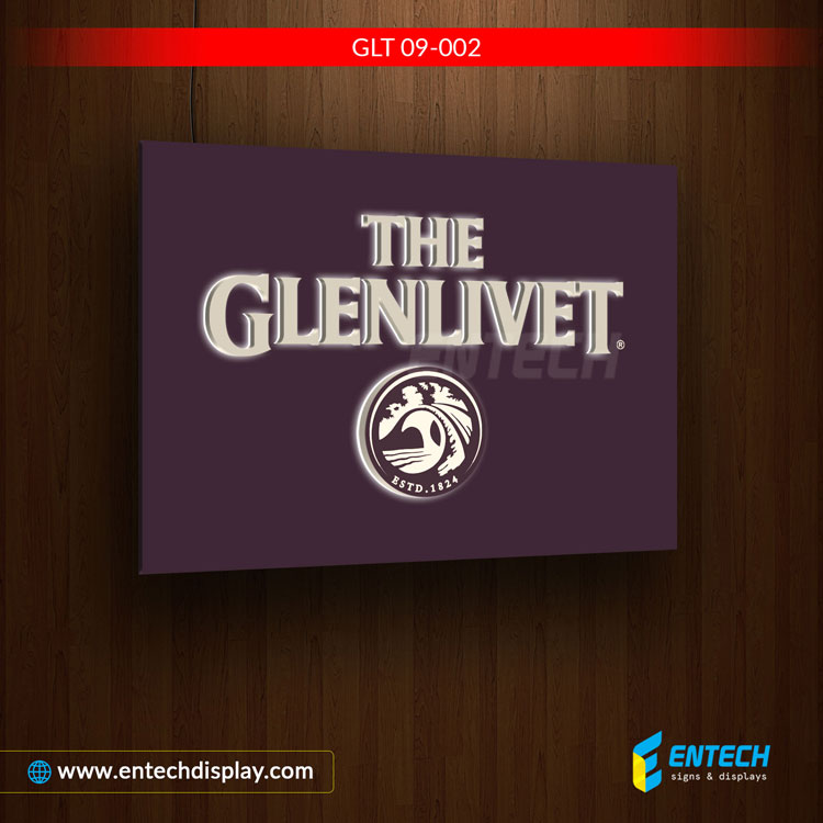 The Glenlivet mini acrylic sign board - acrylic letters, acrylic signs near me